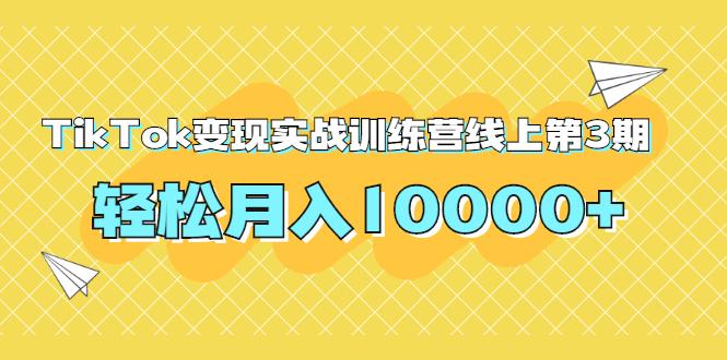 龟课TikTok变现实战训练营线上第3期,轻松月入10000+(无水印)插图