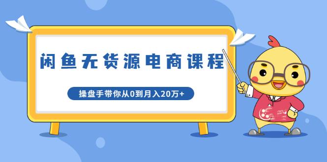 龟课·闲鱼无货源电商课程第20期:闲鱼项目操盘手带你从0到月入20万+插图