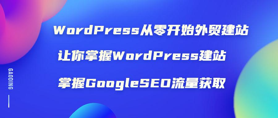 WordPress从零开始外贸建站:让你掌握WordPress建站 掌握GoogleSEO流量获取插图