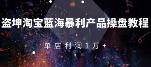 淘宝蓝海暴利产品操盘教程:从零到单店利润10000+详细实操(付费文章)插图